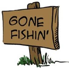 gone fishin sign
