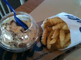 Frozen custard and french fries